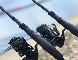 Fishing rod and reel combos matched up for the type of fish