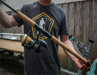 Custom fishing rod designed by Justin